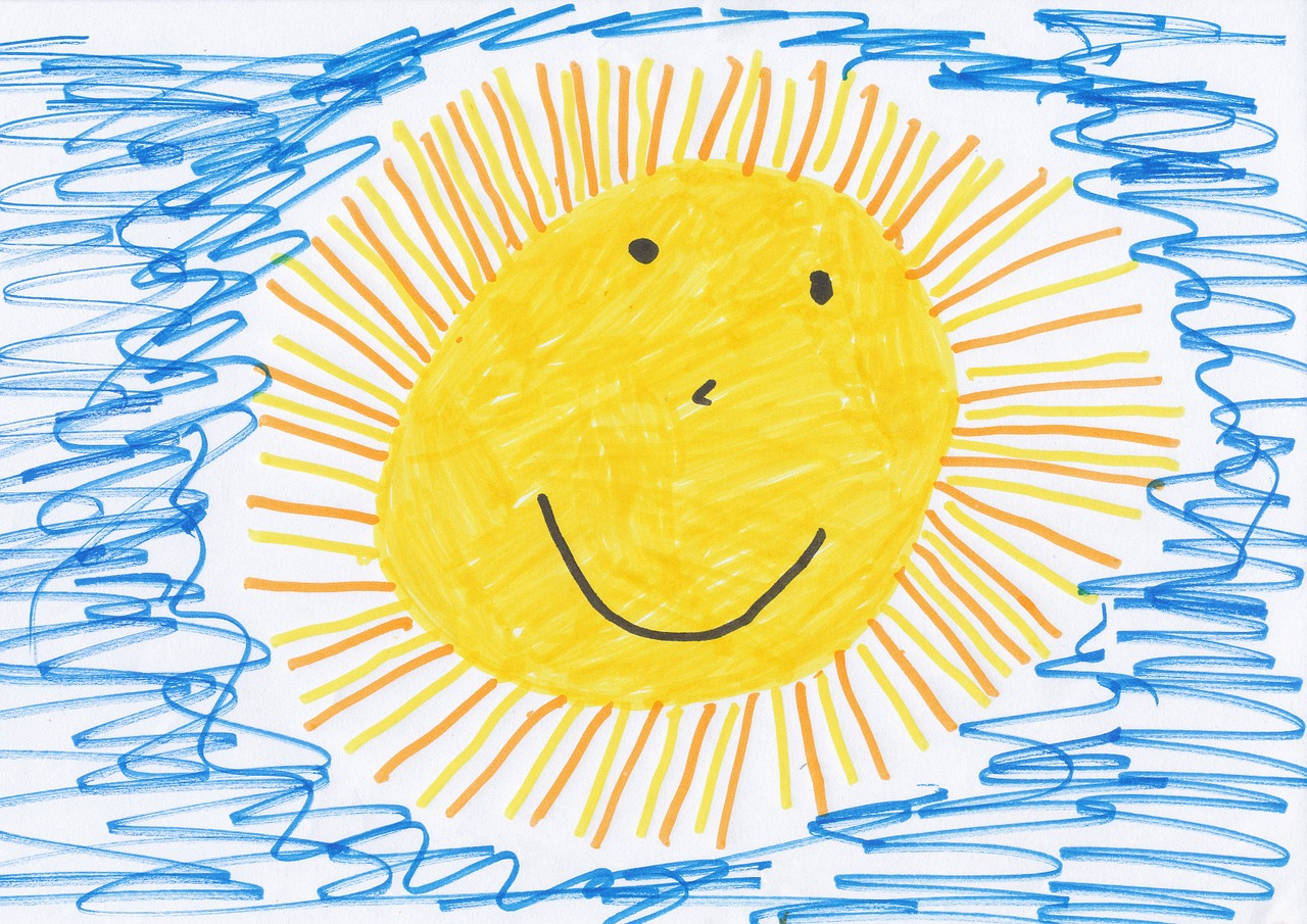 Kinderzeichnung Sonne